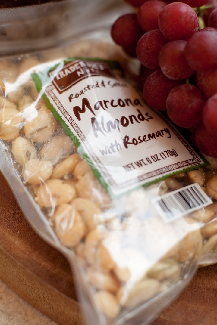 A close up of a bag of Marcona Almonds for use in No fuss appetizer platter
