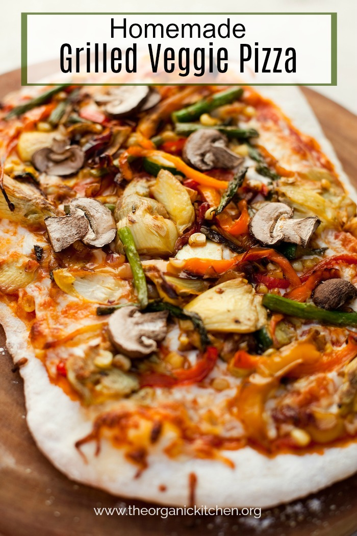 Homemade Grilled Veggie Pizza! #homemadepizza #vegetablepizza #pizzadough