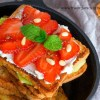 French Toast with Berries and Cottage Cheese