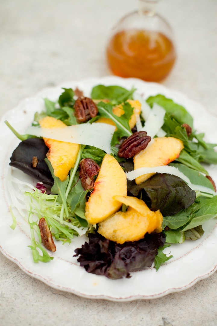 Greens with Peaches from The Organic Kitchen