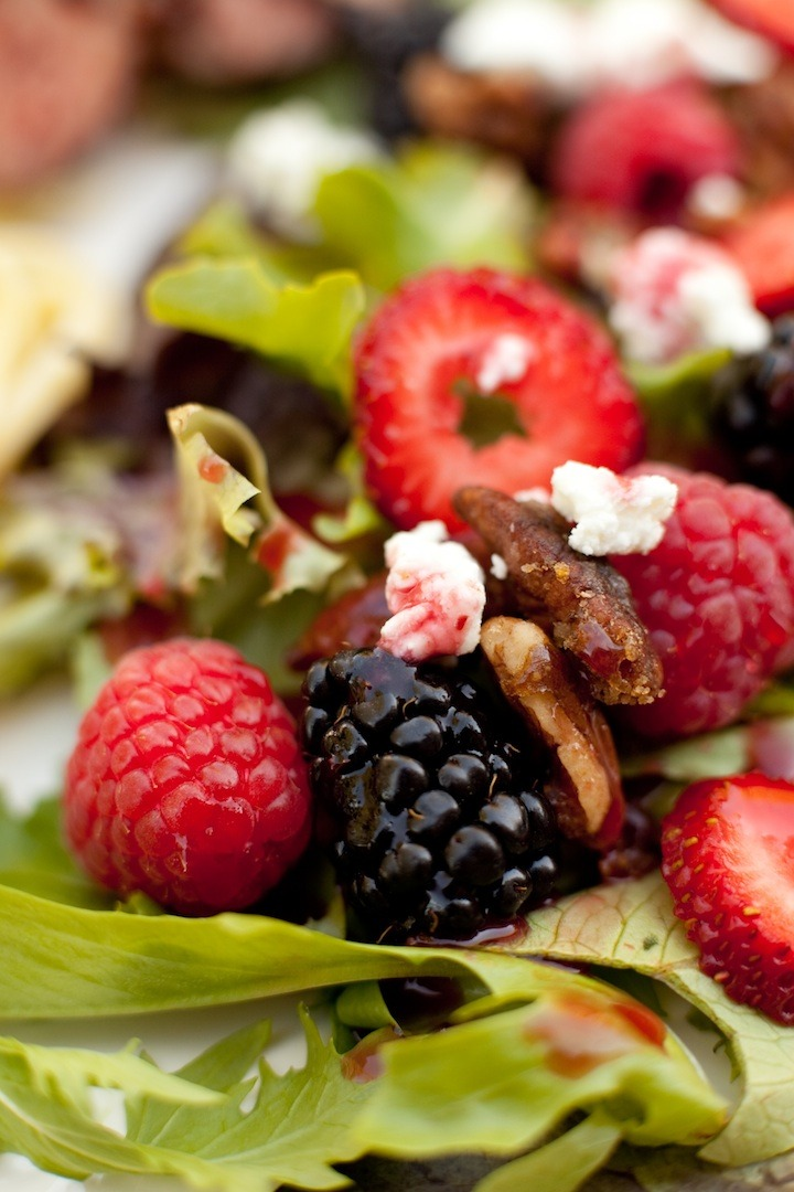 Summer Berry Salad with Raspberry Vinaigrette from The Organic Kitchen