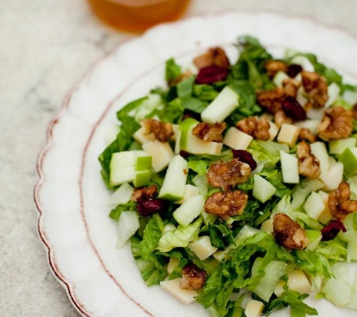 The Organic Kitchen Chopped Salad with Apple Vinaigrette