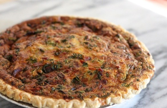 Spinach and Kale Quiche with Four Crust Options from The Organic Kitchen