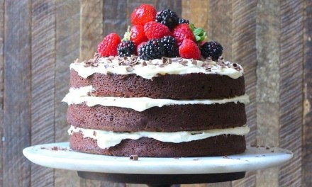 Naked Chocolate Cake with Buttercream Frosting