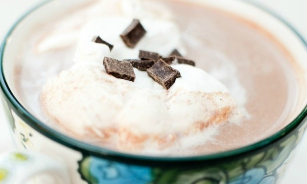 Spiced Hot Chocolate with Vanilla Whipped Cream…yes…more comfort food!