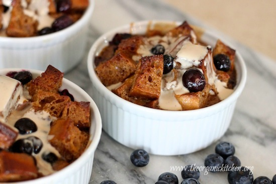 Heavenly Blueberry Bread Pudding From The Organic Kitchen