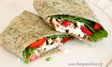 It's a Wrap! Spinach Strawberry Salad Wrap