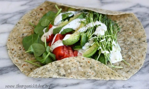 Veggie Wrap~ Five Minute Lunch