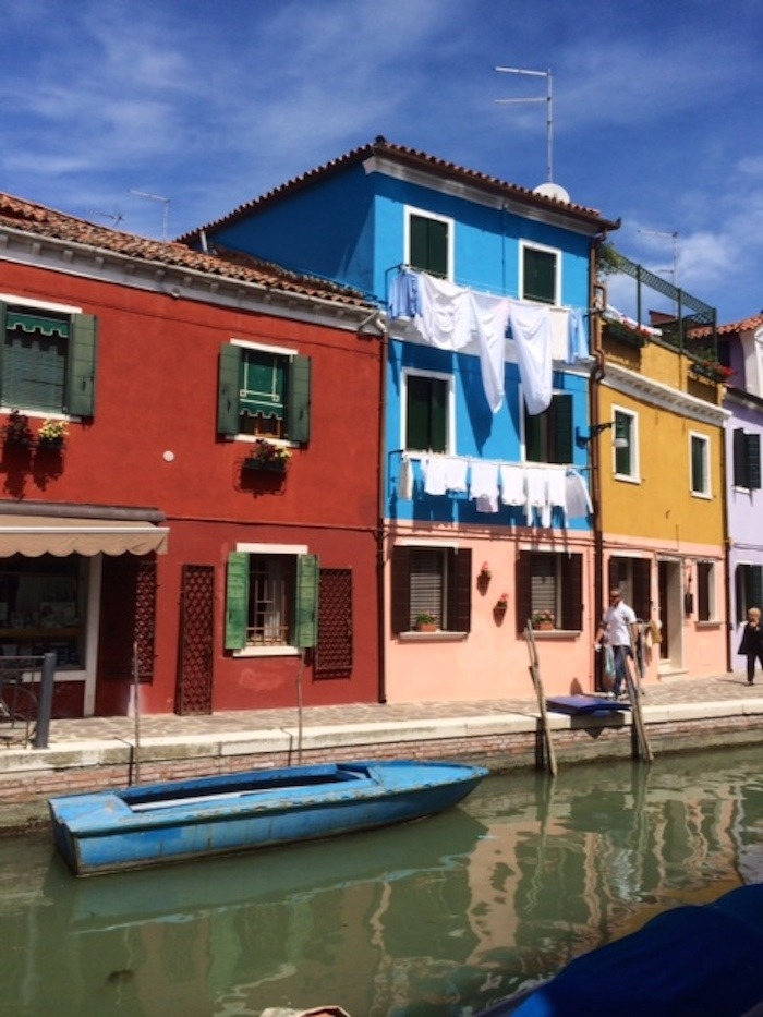 A photo of old Italian homes in Burano Italy