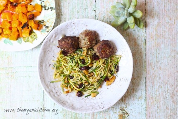 Zucchini Noodles with Cranberries and Walnuts