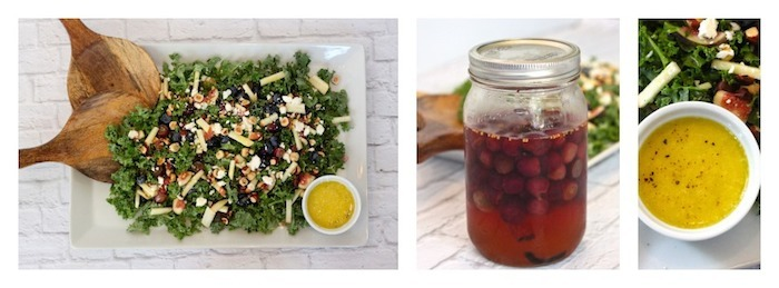 Kale Salad with Pickled Grapes and Citrus Vinaigette