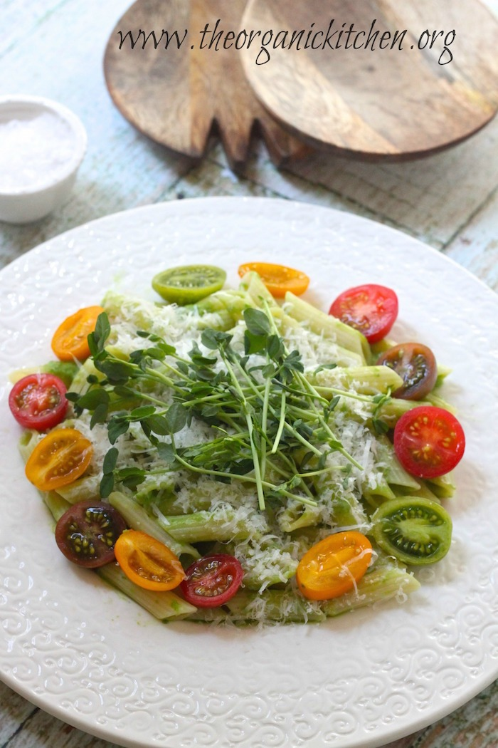 Pasta-with-Mint-Pea-Sauce
