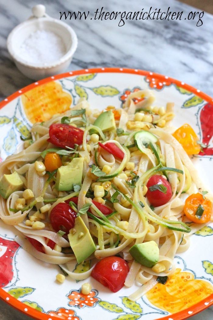 Vegetable Fettuccine with Zoodles from The Organic Kitchen