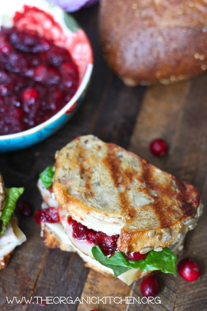 Leftover Turkey and Cranberry Sauce Sandwich