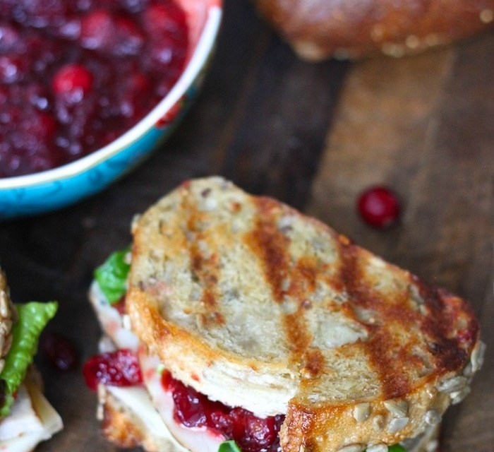 Leftover Turkey Sandwich with Cranberry Sauce