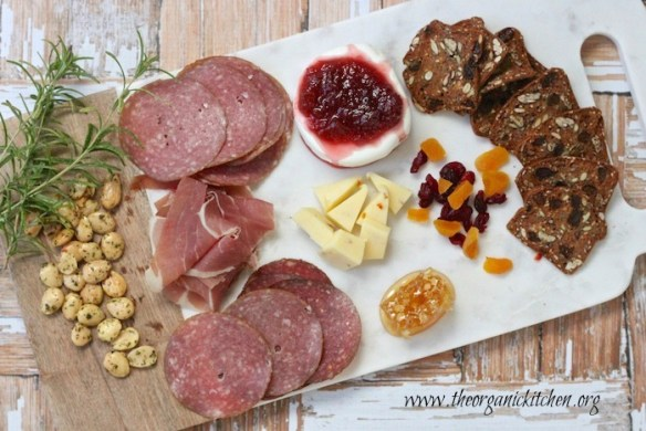 Charcuterie board from The Organic Kitchen