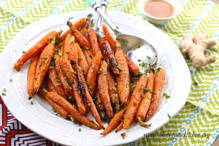 Roasted Baby Carrots with Honey and Ginger