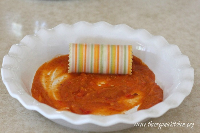 Three Cheese Lasagna Rolls with Chicken and Butternut Pasta Sauce