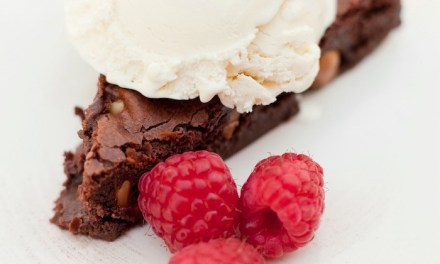 Browned Butter Brownies with Macadamia Nuts