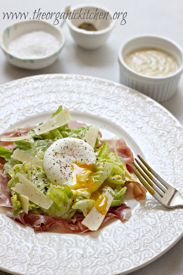 Eating Our Way Across Europe: Ireland Part 1~ Caesar Salad with Prosciutto and Poached Egg