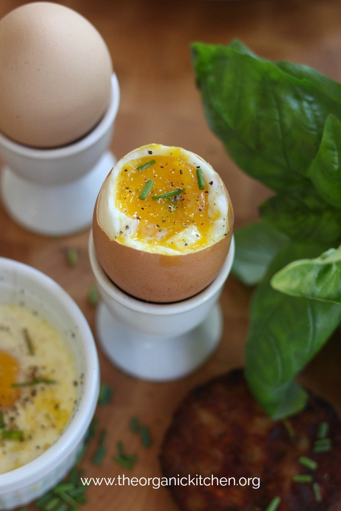 Eggs en Cocotte and Soft Boiled Eggs #bakedeggs #softboiledeggs #howto #glutenfree #breakfast