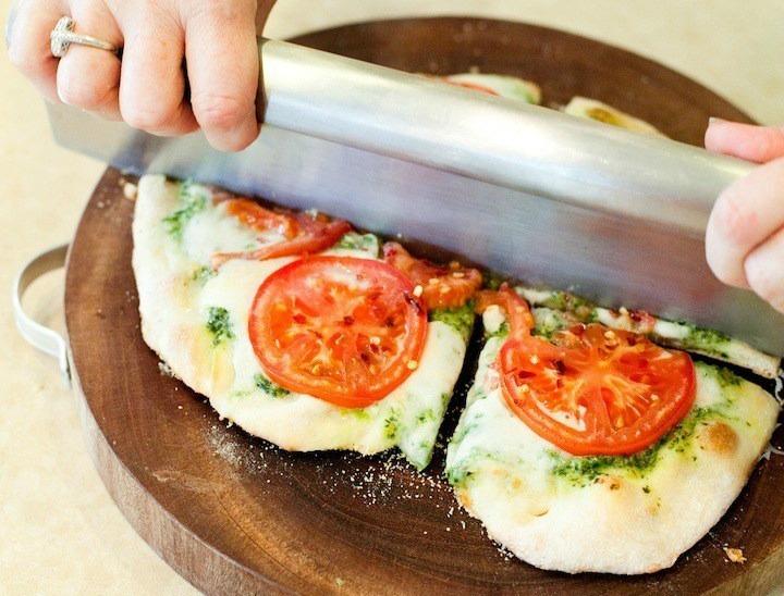 Fresh Tomato and Basil Pesto Pizza