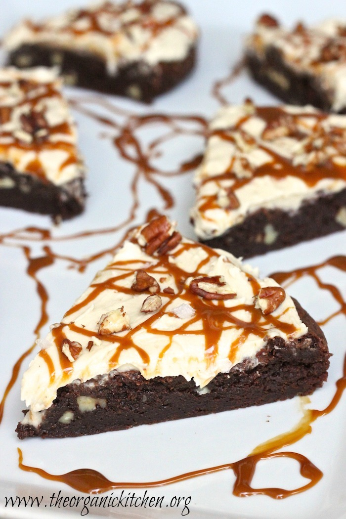 Salted Caramel Brownies with a grain free option!