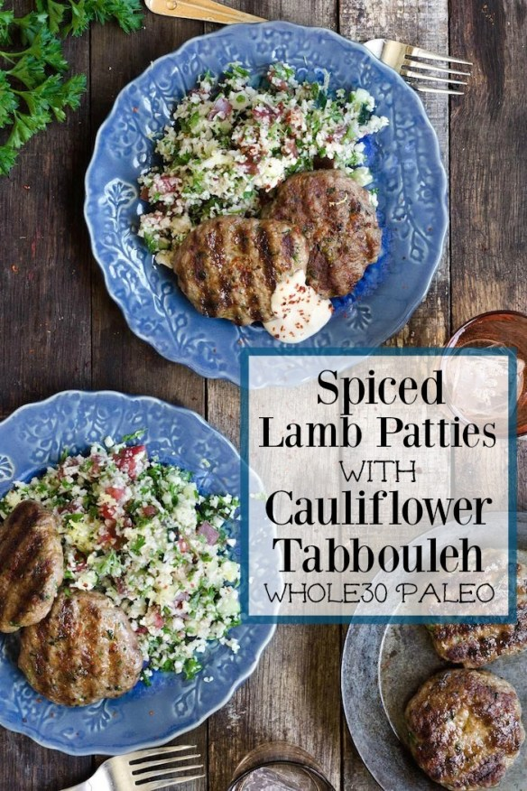Spiced Lamb Patties with Cauliflower