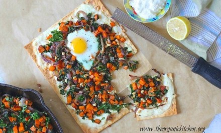 Ricotta Sweet Potato Flatbread with Eggs!