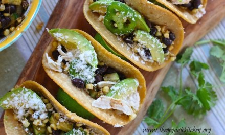 Fresh Corn, Black Bean and Avocado Tacos (Chicken and Vegetarian Options)