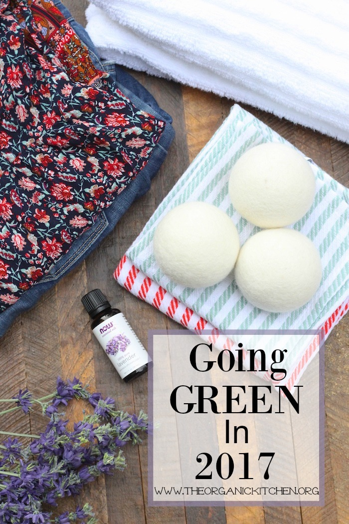 "Going ""Green"" in 2017 ~ Wool dryer balls for $1.00!"