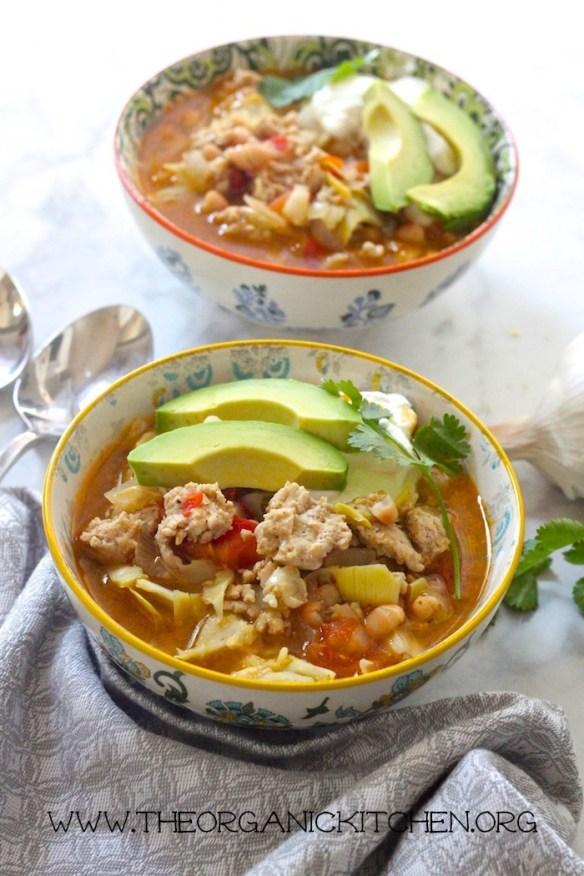 30 Minute Chicken and White Bean Chili