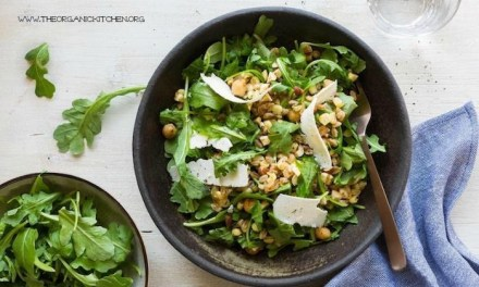 Corn and Farro Salad with Spiced Chick Peas