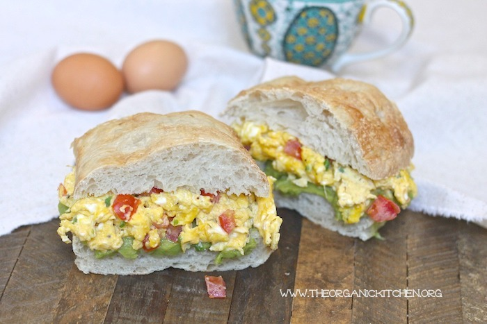 Egg and Avocado Mash Breakfast Sandwich