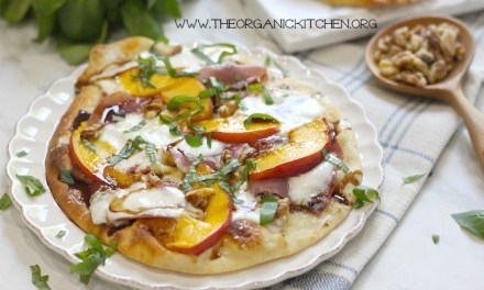 Peach, Prosciutto and Burrata Grilled Naan Pizza!