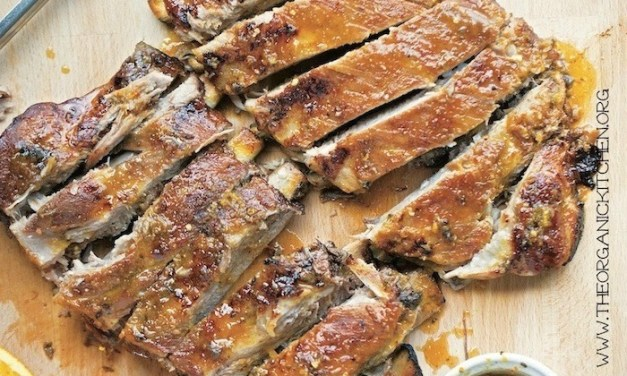 Asian Style Ribs with Ginger-Orange Glaze
