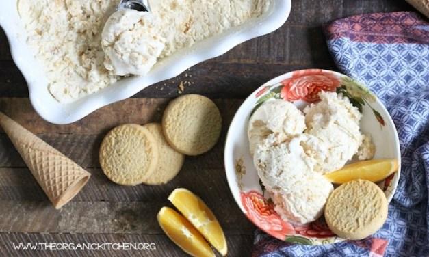 Orange-Shortbread Cookie 'No Churn' Ice Cream!