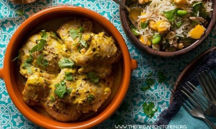 Tandoori-Style Curried Lemon Chicken with Mango Cashew Rice