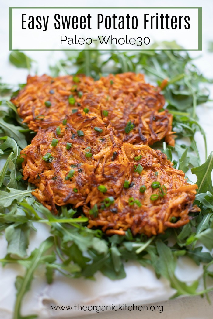 Easy Sweet Potato Fritters-Paleo/Whole 30 #fritters #sweetpotatoes #sweetpotatofritters #paleo #whole30