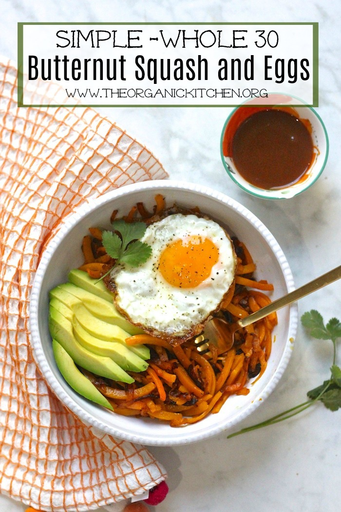 Whole 30 Butternut Squash and Eggs #whole30 #breakfast #paleo #keto #butternutsquash