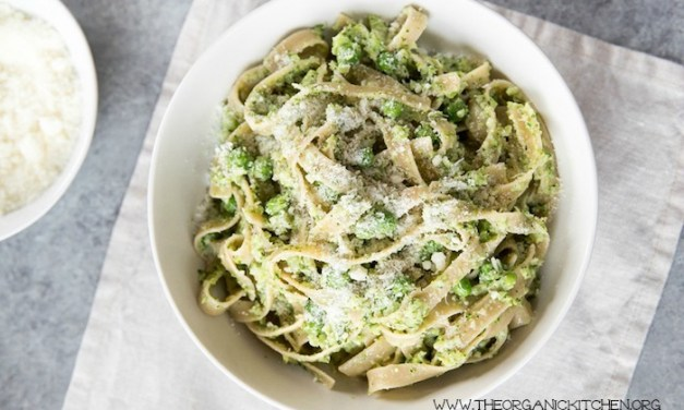 Pasta with Creamy Broccoli and Peas~ Gluten Free