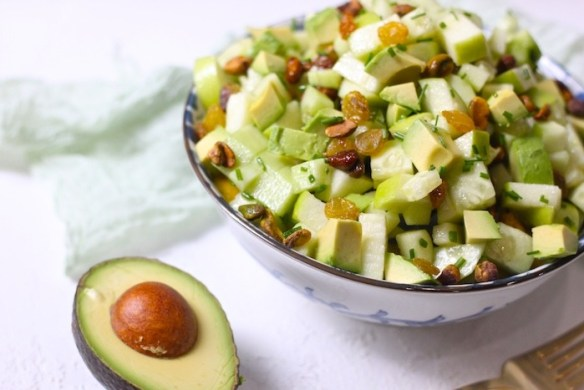 Five Greens Salad ~ Paleo/ Whole 30 #paleo #whole30 #salad #apples #cucumbers