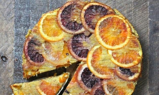 Upside Down Orange Almond Cake