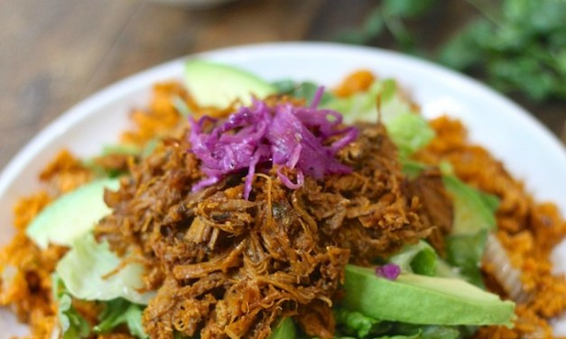 Pulled Pork over Mexican Sweet Potato Rice-Paleo/Whole30