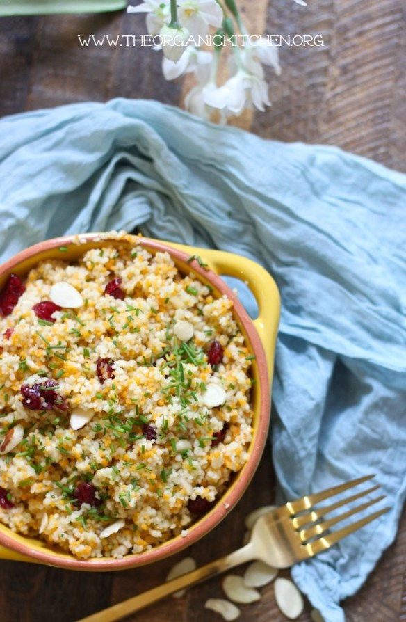 Jeweled Moroccan Couscous an Easy Side Dish! #couscous #moroccancouscous #easysidedish #pasta