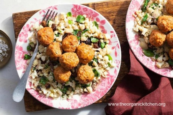 "Hungarian Meatballs with Cauliflower ""Rice""~ Paleo, Whole30, Keto #meatballs #cauliflowerrice #paleo #keto #whole30"