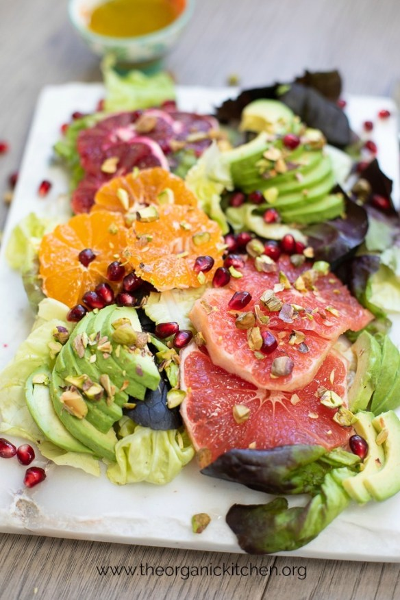 Citrus and Avocado Salad with lemon Poppy Seed Dressing #citrussalad #paleo #whole30 #lemonpoppyseed