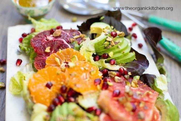 Citrus and Avocado Salad with Lemon Poppy Seed Dressing