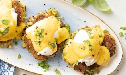 Farmhouse Eggs Benedict on Zucchini Fritters! (Paleo-Whole30 option)