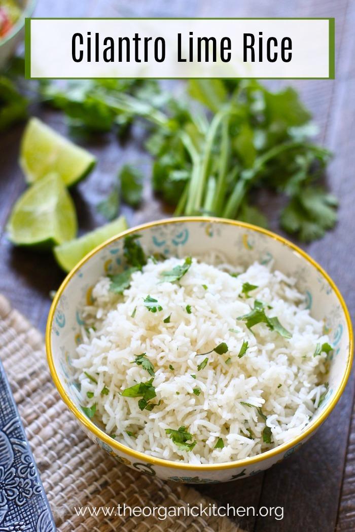 Cilantro Lime Rice #cilantrolimerice #mexicansidedish #mexicanrice